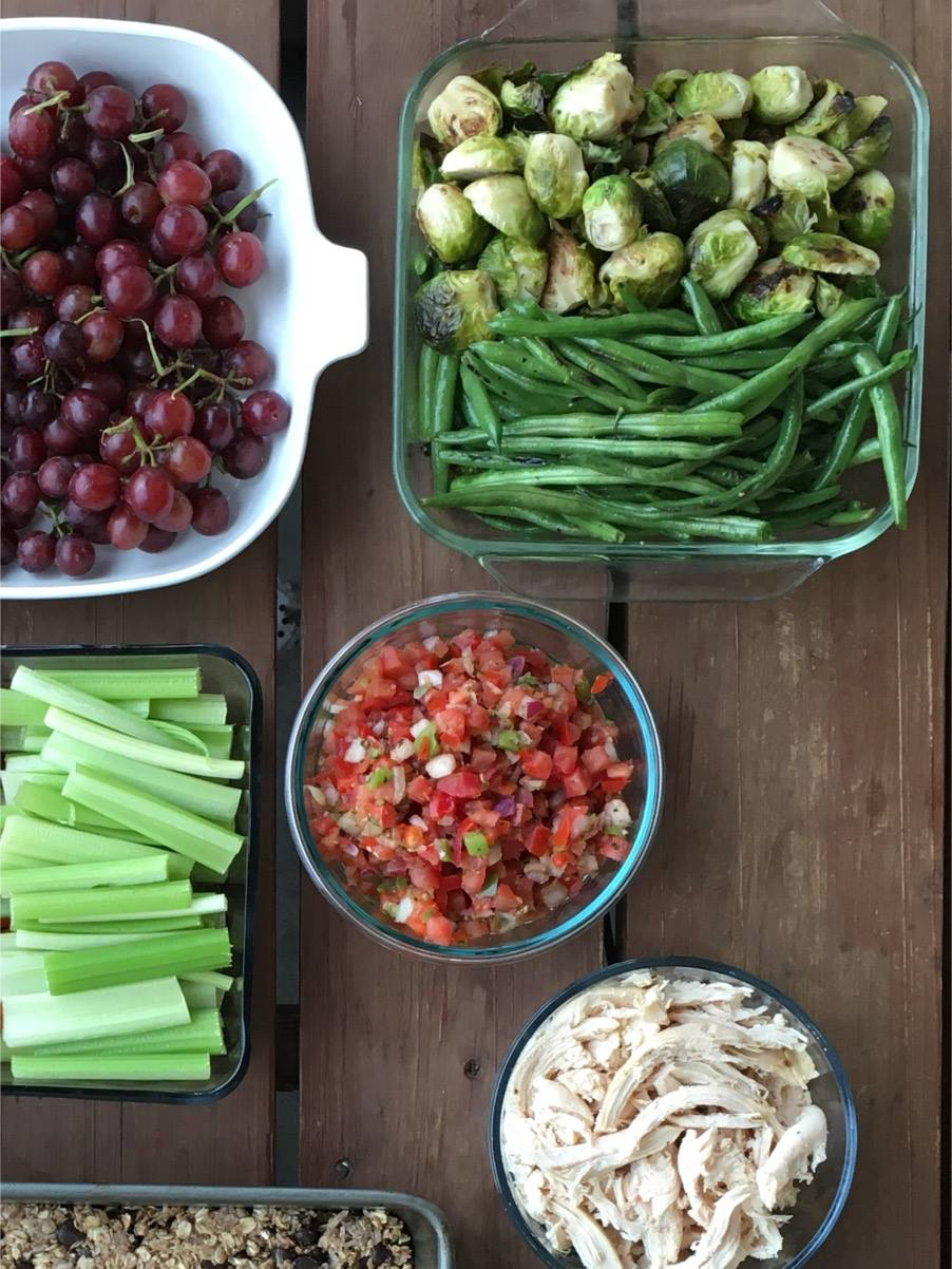 Roasted Veggies and Pico Prep