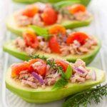 Tuna Stuffed Avocado Clean Eating Recipe