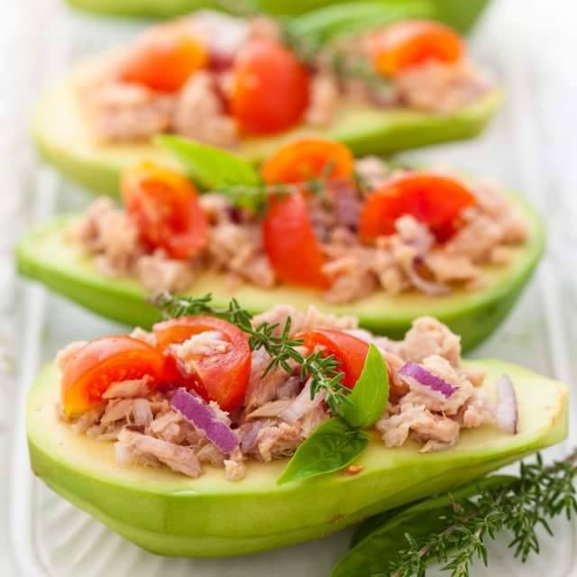 Tuna Stuffed Avocado Clean Eating Recipe