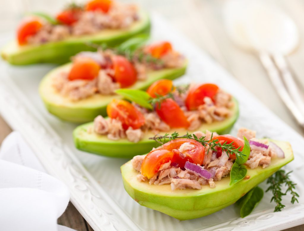 Tuna Stuffed Avocado | Clean Food Crush