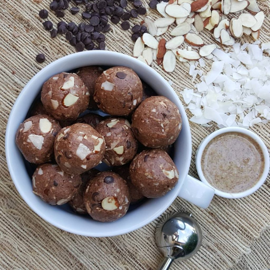Yummy Almond Joy Protein Balls