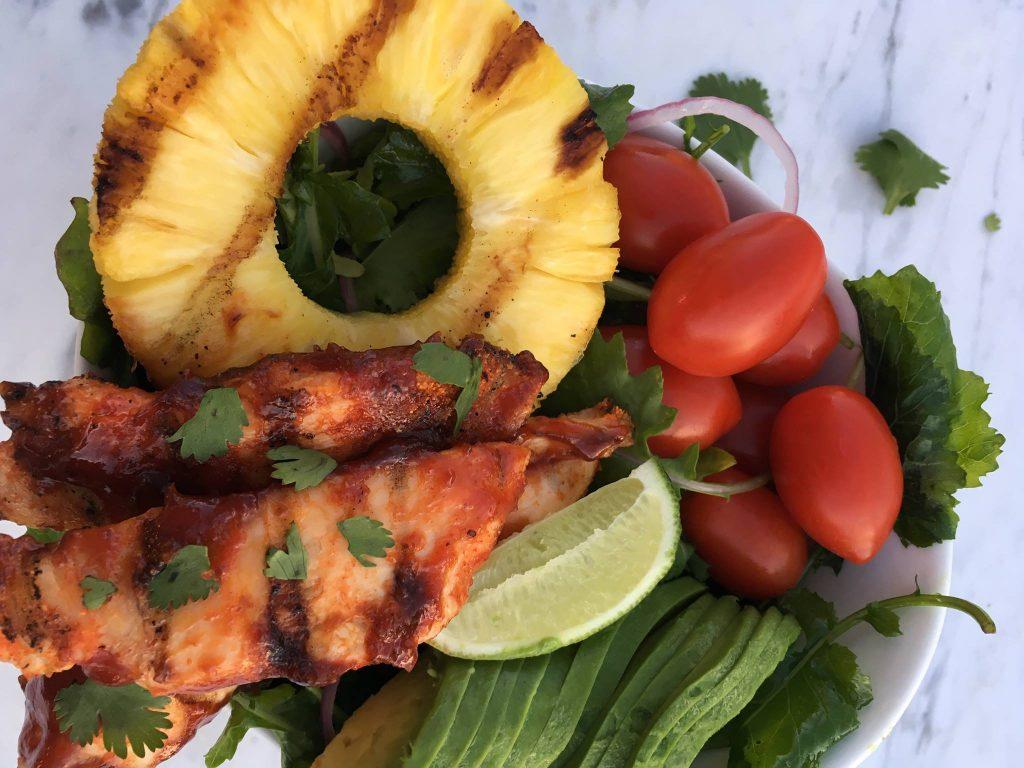 BBQ Chicken Grilled Chicken Avocado Kale Salad