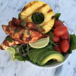 BBQ Chicken Salad Bowl with Homemade BBQ Sauce