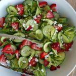Cucumber Strawberry Salad Recipe