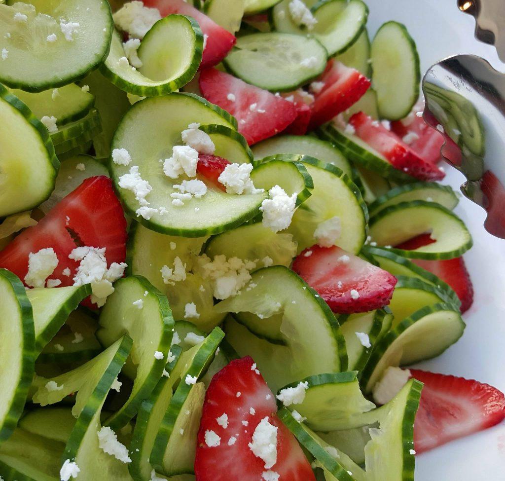 Cucumber Strawberry Salad with Homemade Poppyseed Dressing Recipe