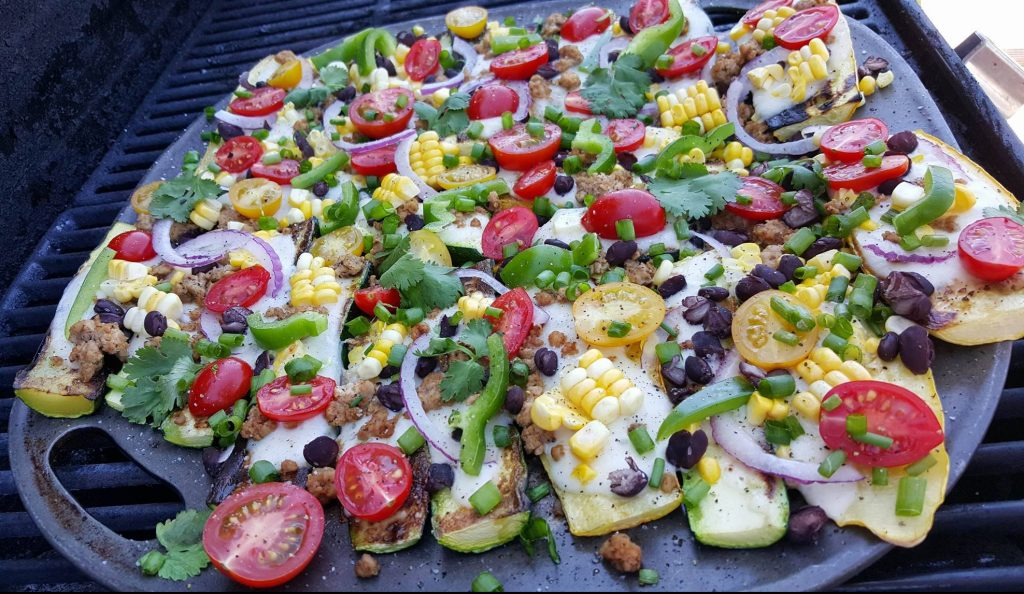 Grilled Zucchini Mexican Pizzas Recipe Clean Eating http://cleanfoodcrush.com/mexican-pizza/