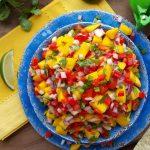 Mango Salsa Clean Eating Recipe  http://cleanfoodcrush.com/mango-salsa/