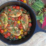 Clean Eating Balsamic Glazed Chicken with Heirloom Tomatoes and Fresh Herbs http://cleanfoodcrush.com/balsamic-chicken-and-tomatoes/