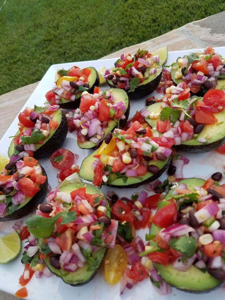 Fiesta Avocado Cups Recipe http://cleanfoodcrush.com/avocado-cups/