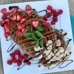 Grain-free Banana Almond Waffles http://cleanfoodcrush.com/banana-almond-waffles/