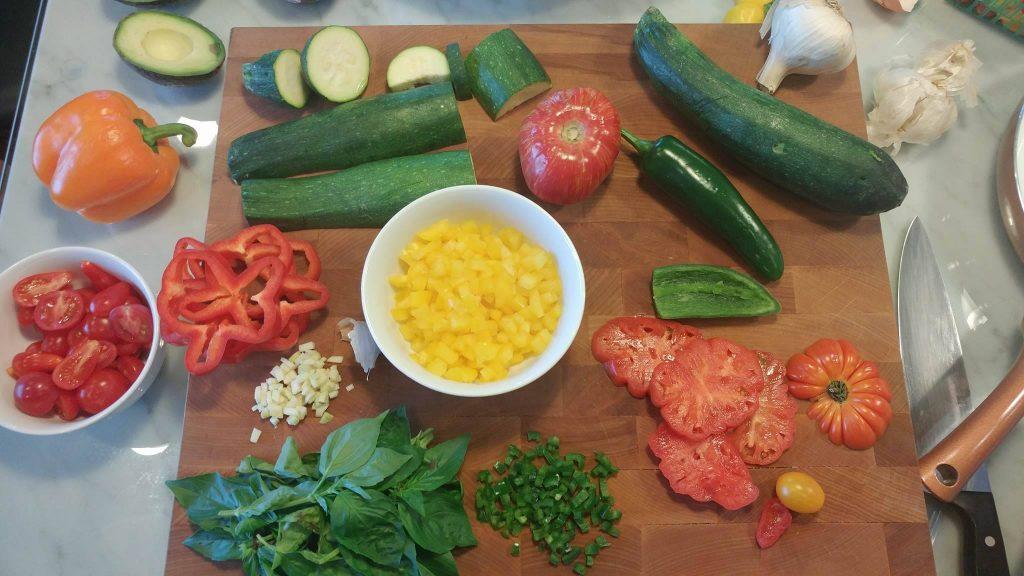 Simple Garden Vegetable Frittata Prep http://cleanfoodcrush.com/garden-vegetable-frittata/