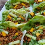 Sweet and Spicy Cucumber Mango Wraps http://cleanfoodcrush.com/cucumber-mango-wraps/