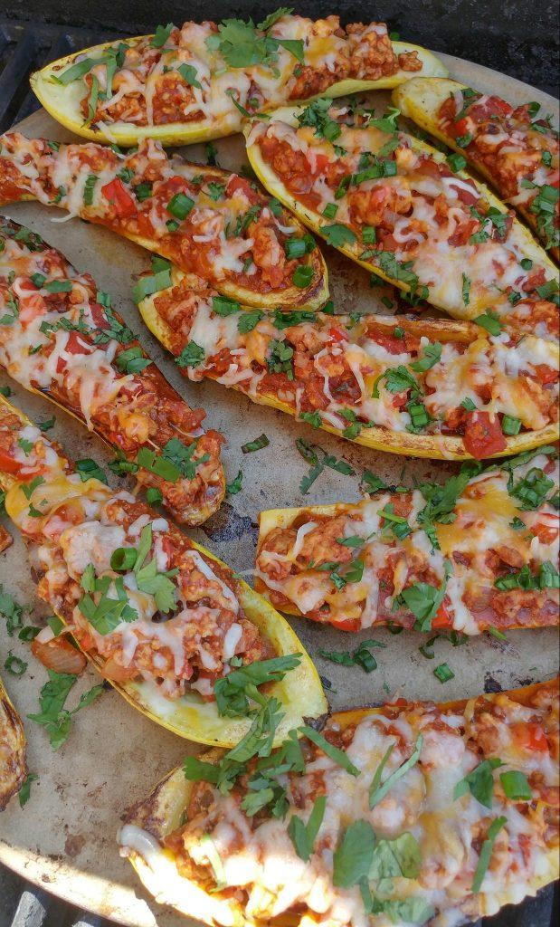 CleanFoodCrush Taco Stuffed Summer Squash Boats http://cleanfoodcrush.com/taco-stuffed-squash/