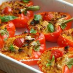 simple-margherita-stuffed-bell-peppers