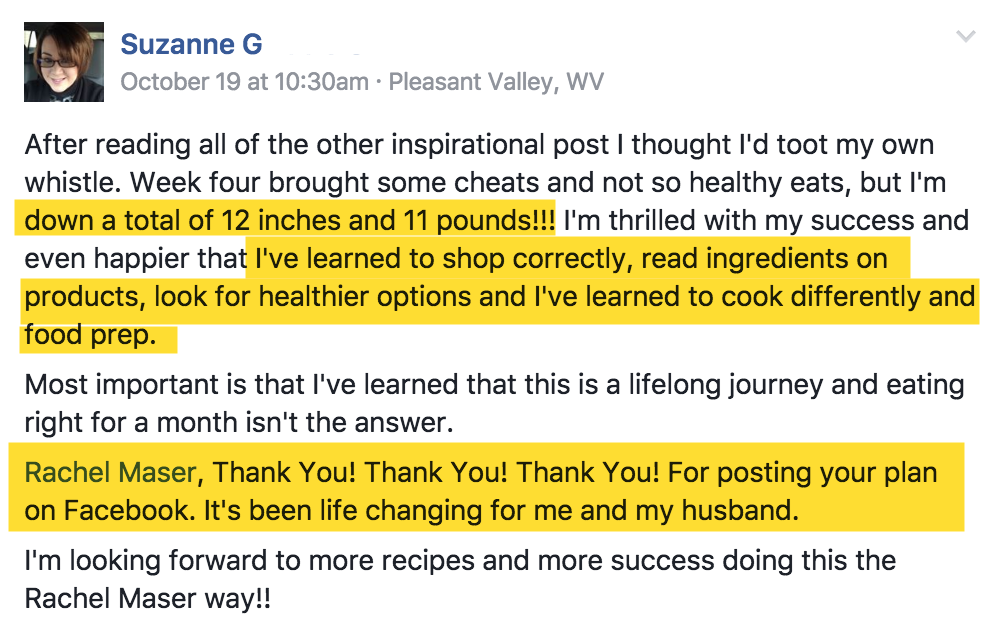 suzanne-clean-eating-success