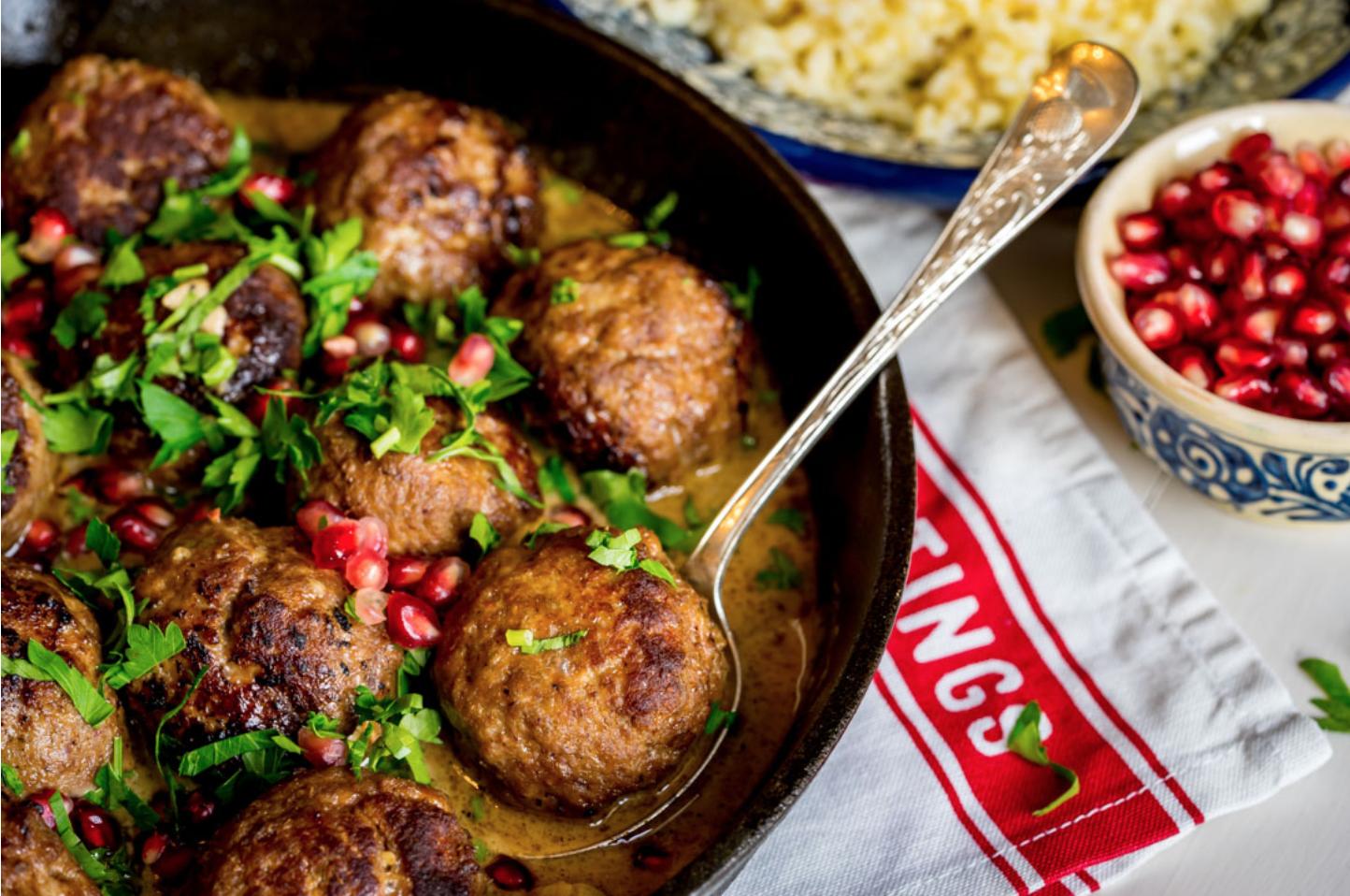 Meatballs in pomegranate sauce