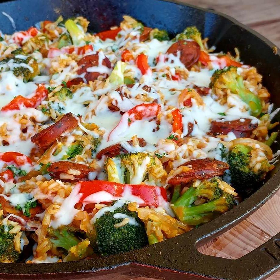 one-pan-sausage-veggie-skillet-recipe