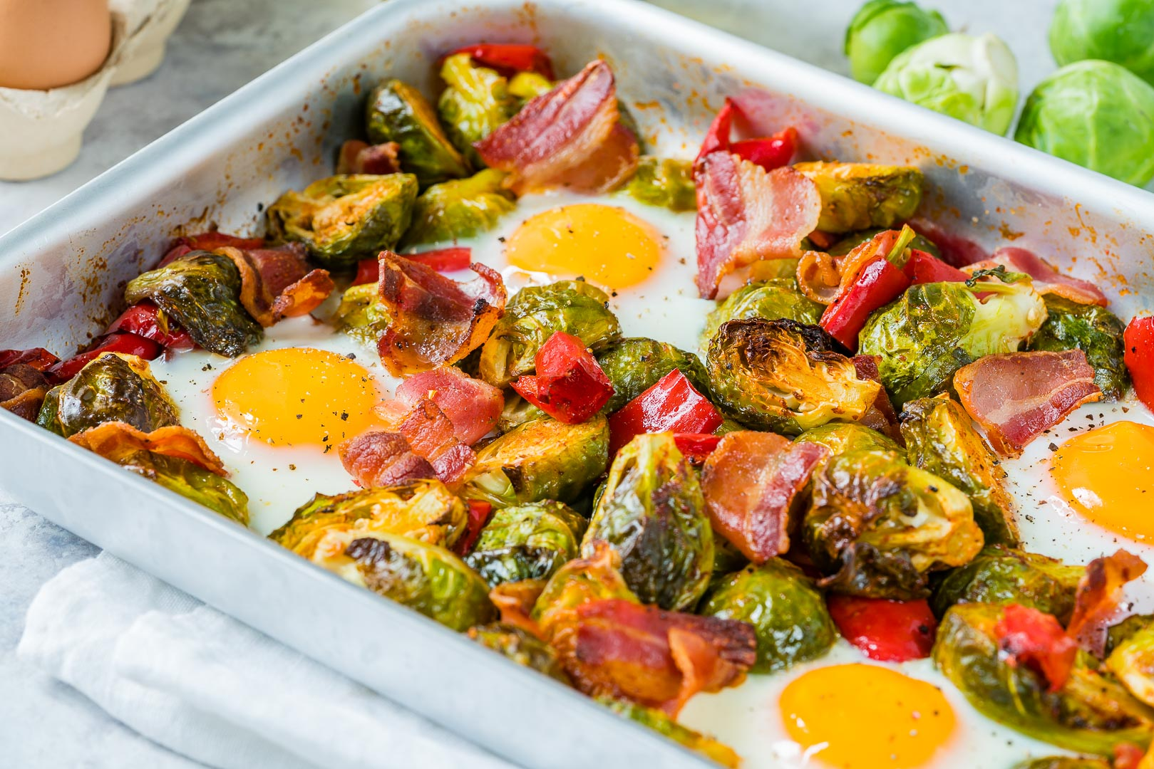 Eat Clean Brussels Sprouts, Eggs + Bacon