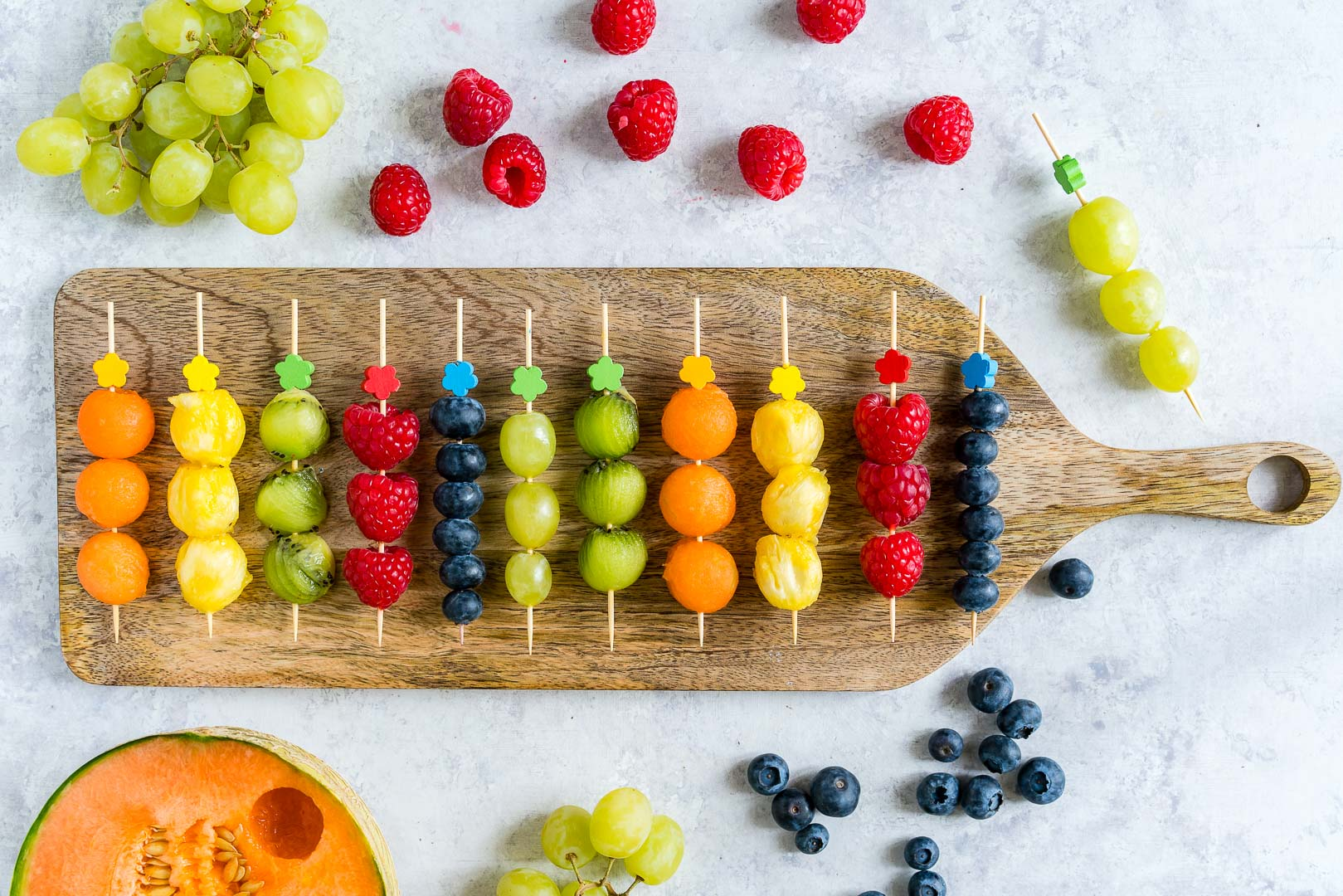 Fresh Fruit Kabobs by CleanFoodCrush