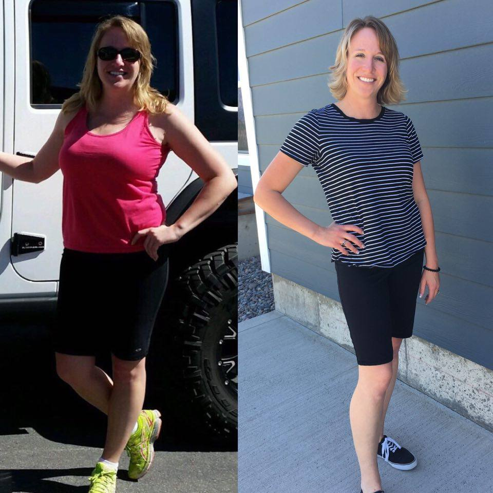 Toni Before and After the 30 Day Clean Eating Challenge