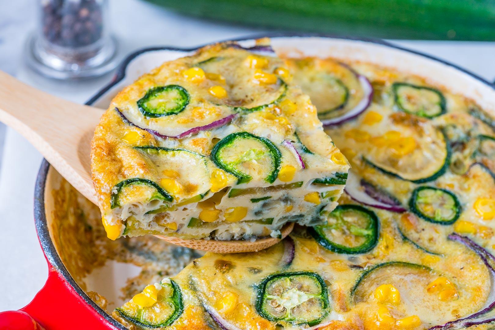 Spicy Jalapeño Zucchini Frittata CleanFoodCrush Recipe