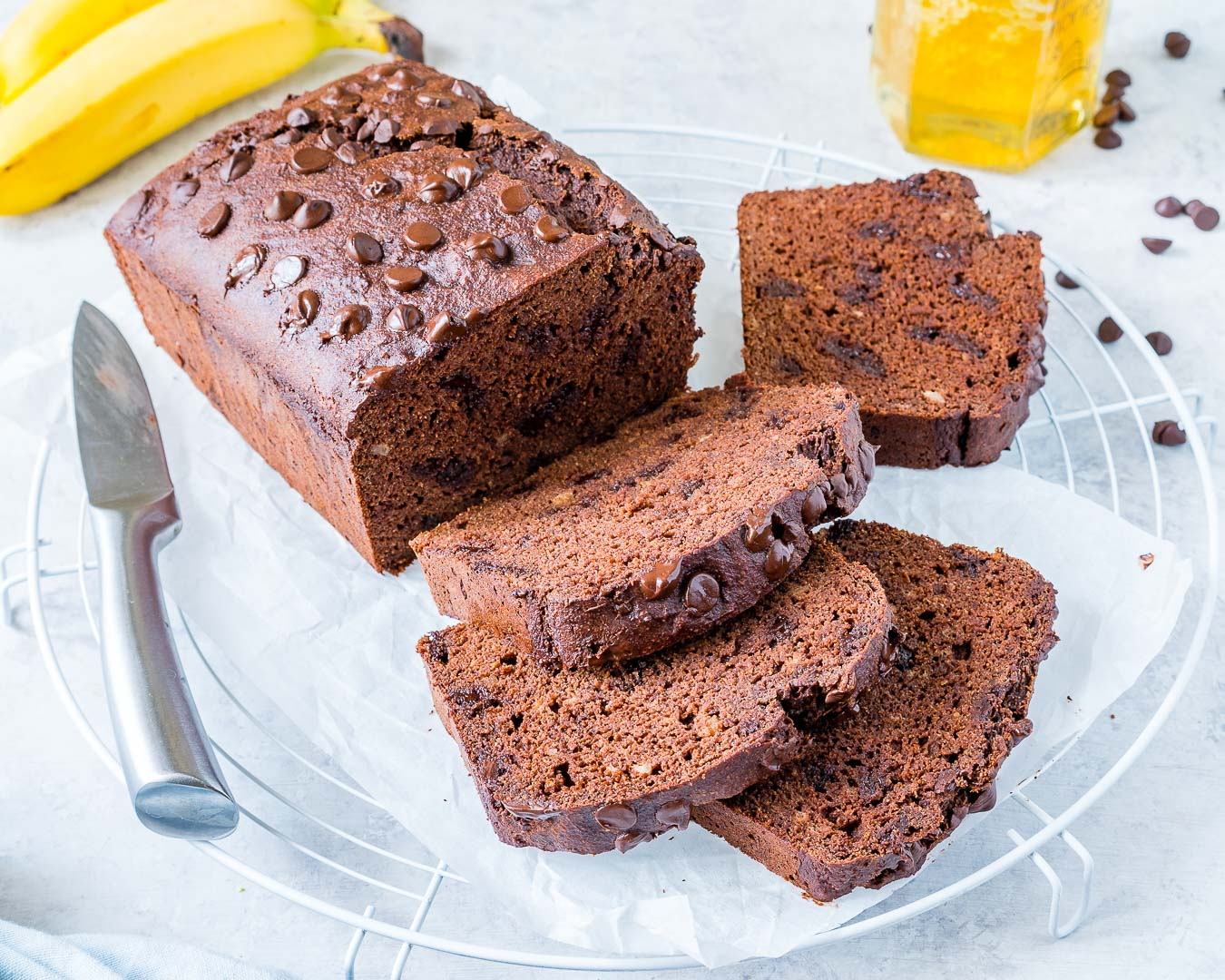 Eat Clean Chocolate PB Banana Bread Recipe
