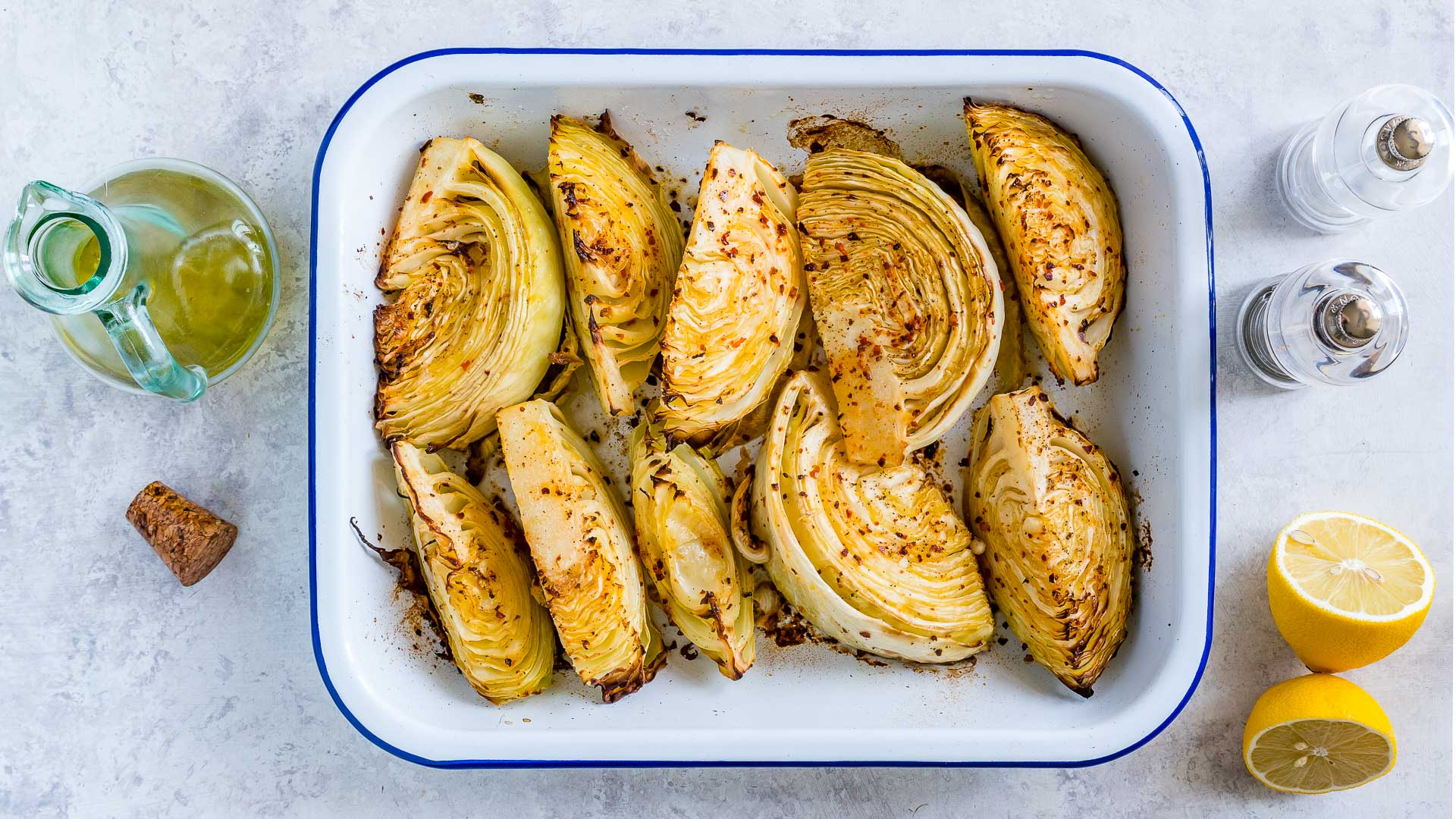 Eat Clean Lemon Roasted Green Cabbage