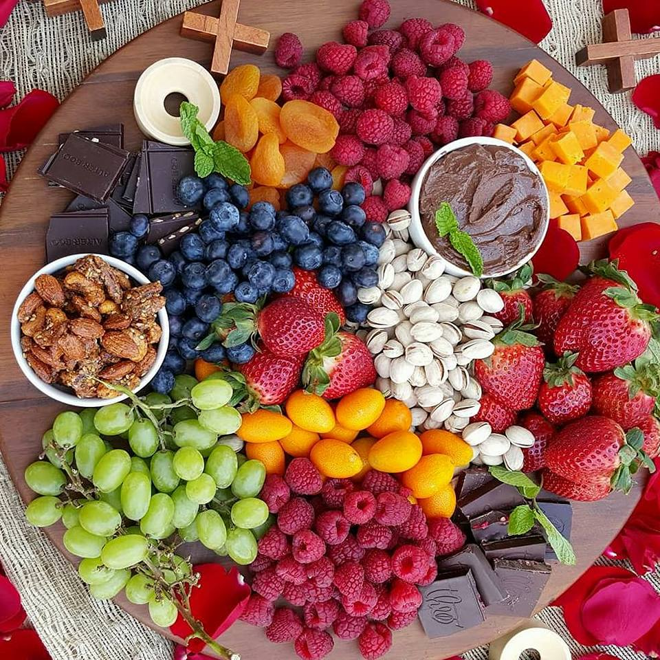 Cheese & Fruit Platter Valentines Day Recipe