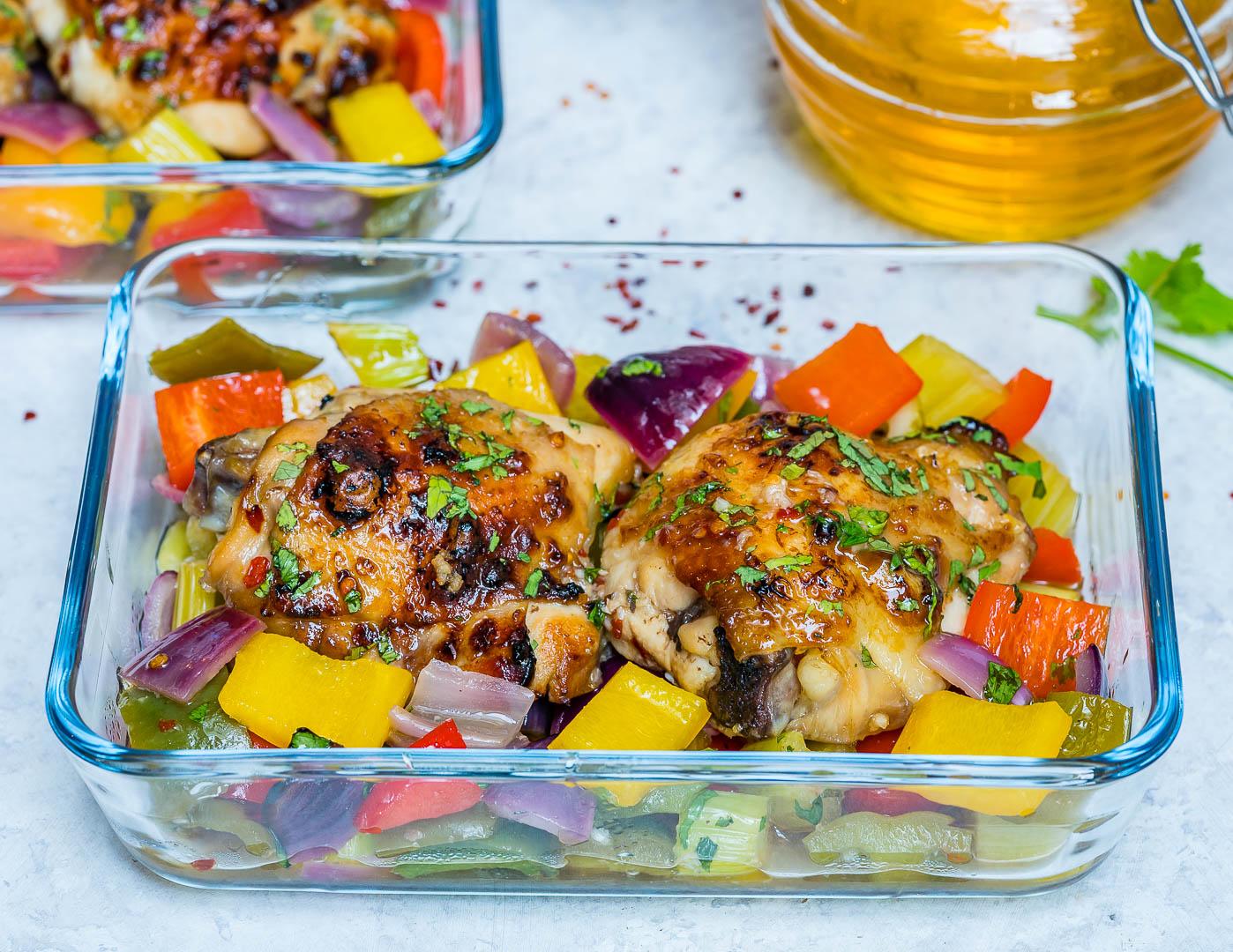 Eat Clean {new} Honey Garlic Chicken Meal Prep
