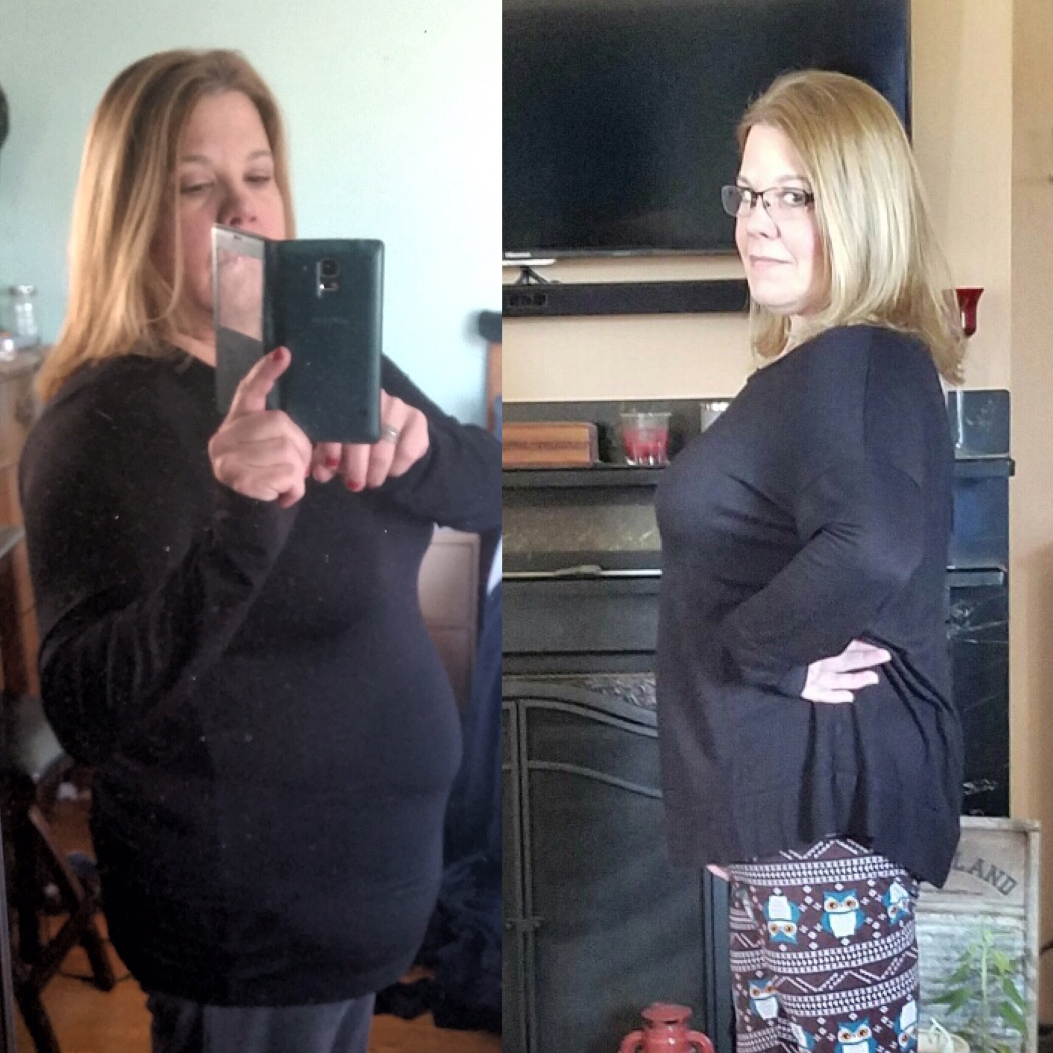 Lisa Before & After 30 Day Clean Eating Challenge