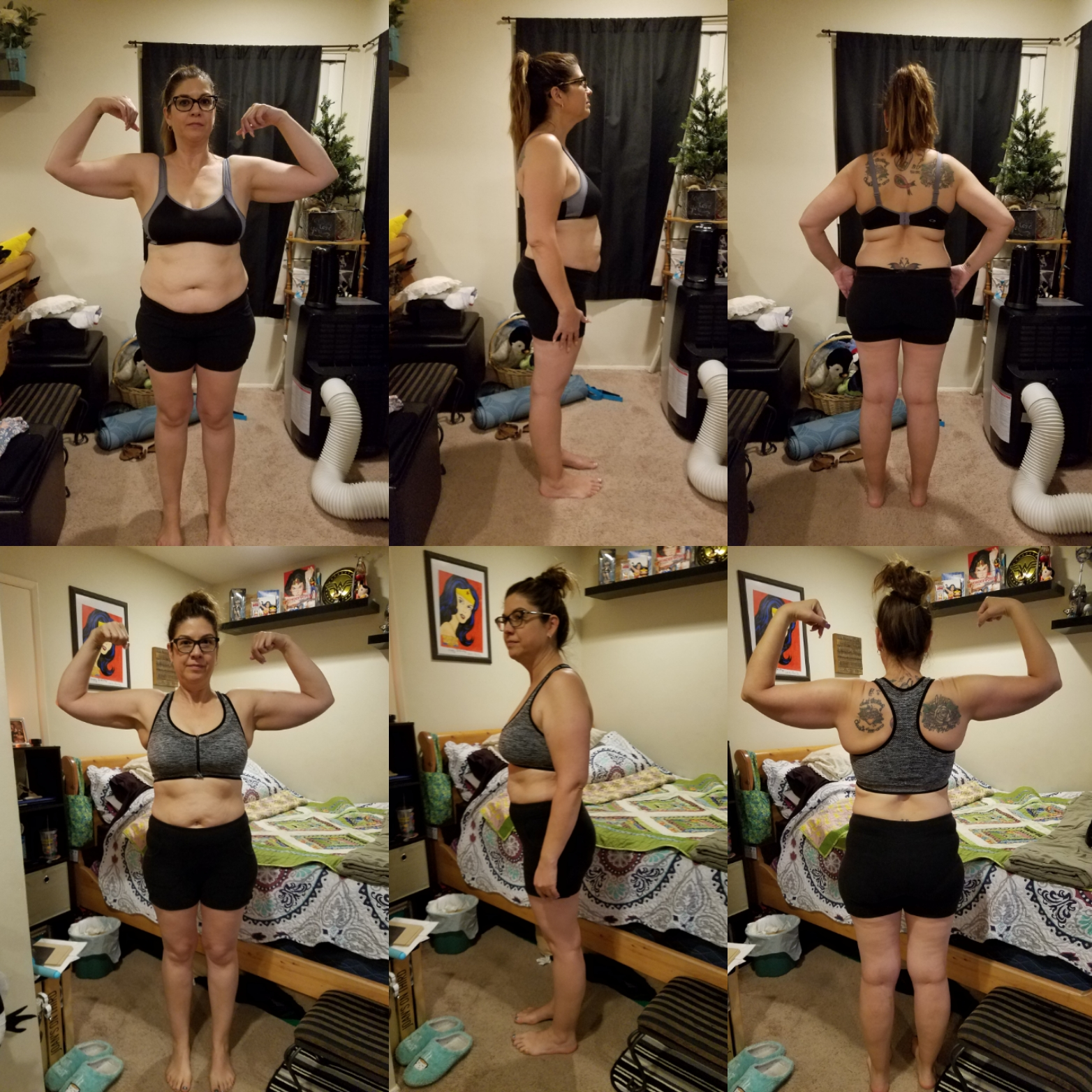 Linda 30 Day Clean Eating Challenge Before and After