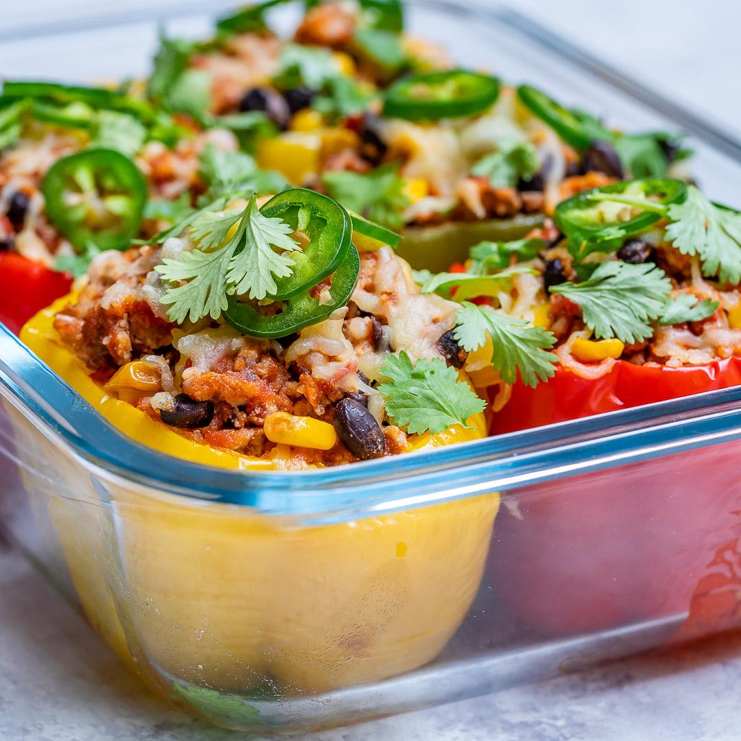 Clean Burrito Stuffed Peppers Recipe