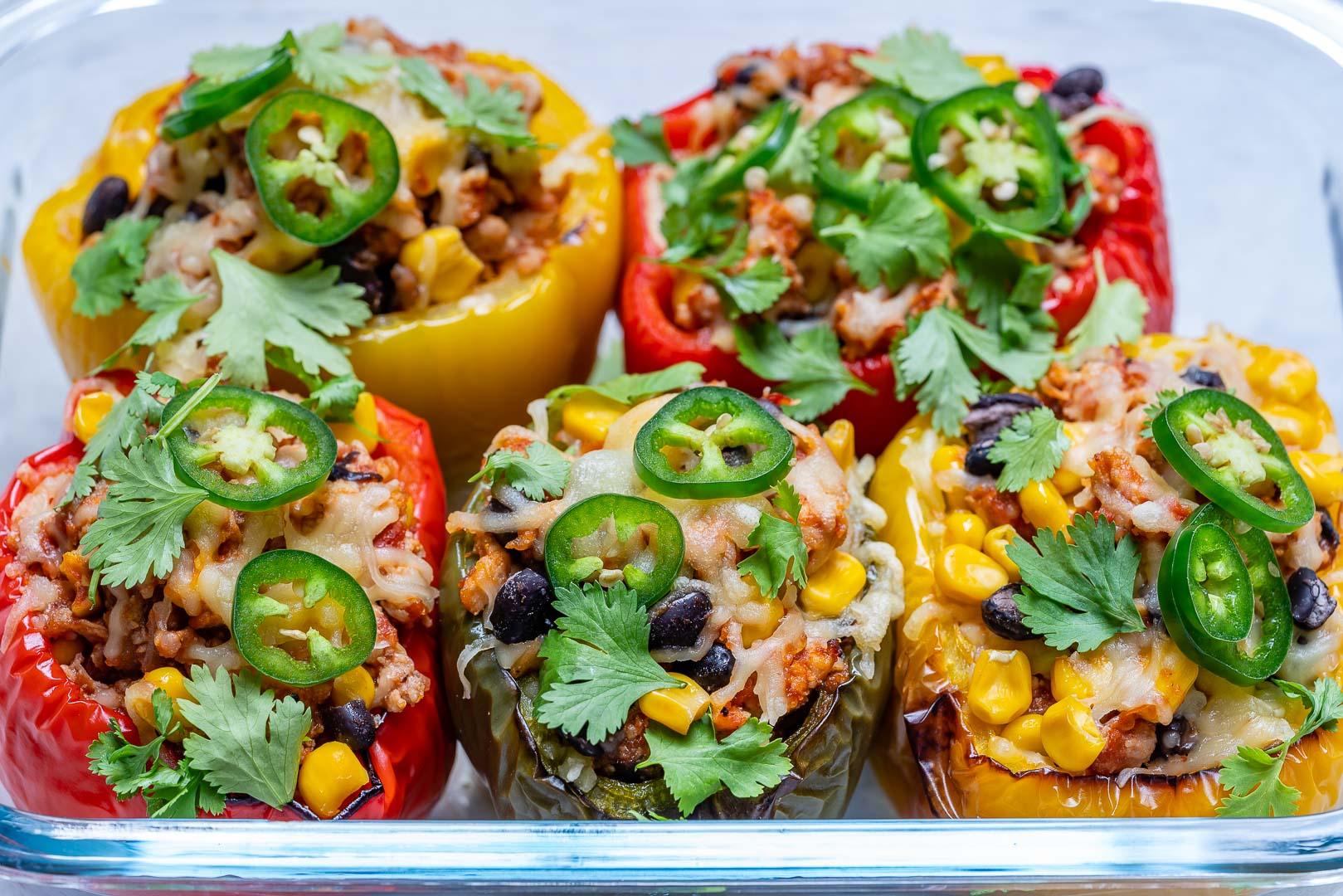Easy Dinner Recipes Burrito Stuffed Peppers