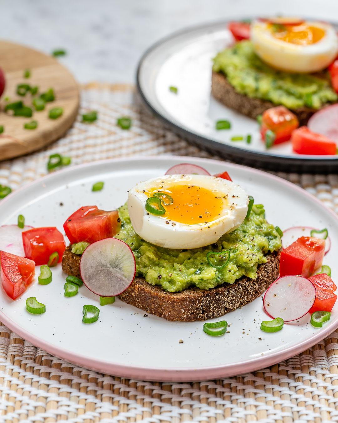 Soft Boiled Egg Avocado Toast Healthy Breakfast
