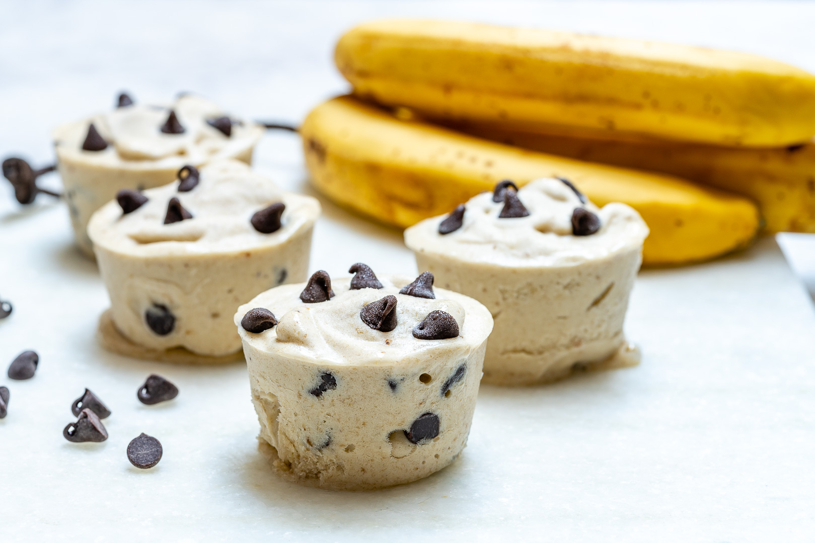 Clean Eats Chocolate Chip Banana Ice Cream Cups