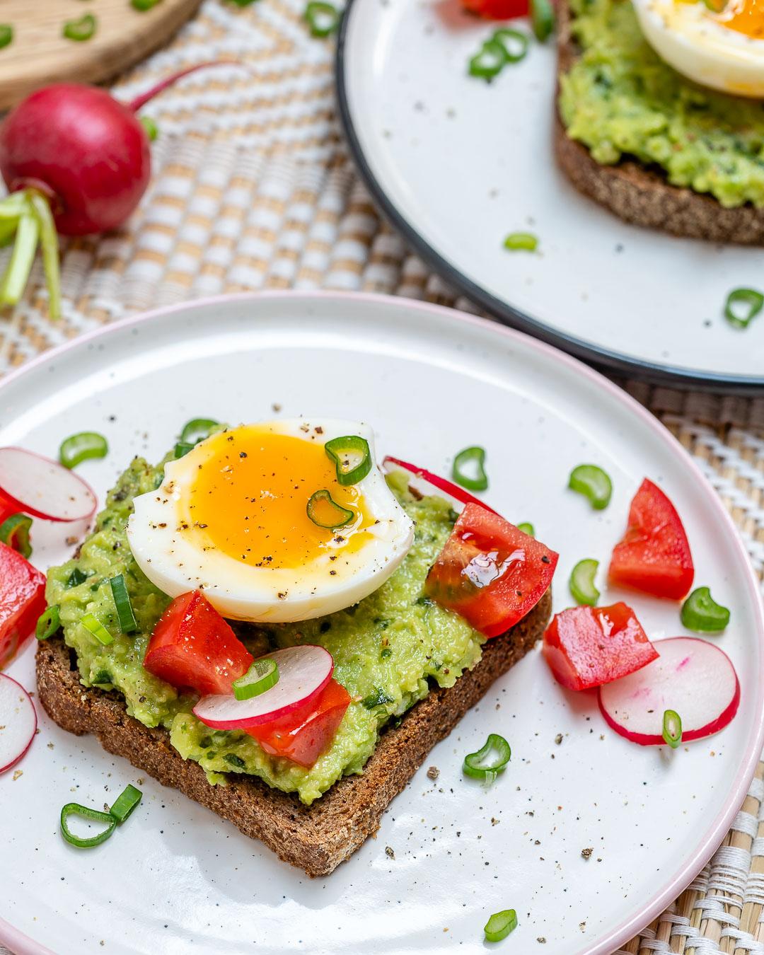Clean Eats Soft Boiled Egg Avocado Toast