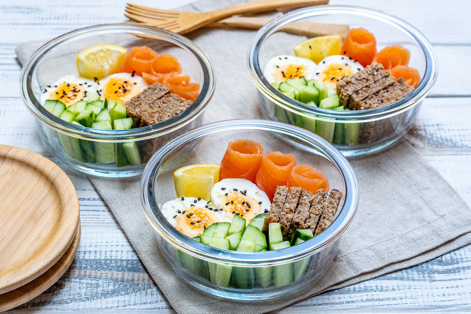Smoked Salmon Bento Boxes Packed Lunch