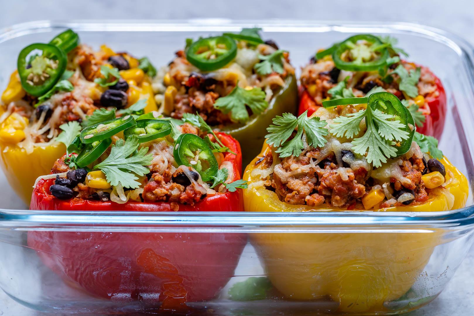 Eat Clean Burrito Stuffed Peppers