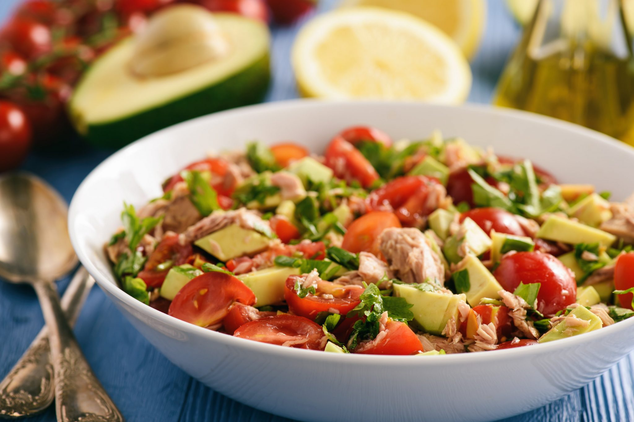 Clean Food Lemony Avocado Tomato Tuna Salad