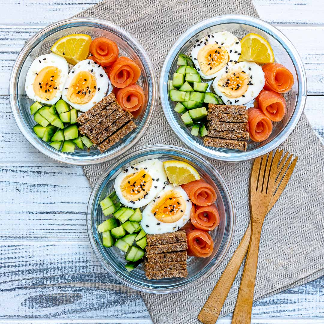 Salmon Bento Boxes Healthy Lunch