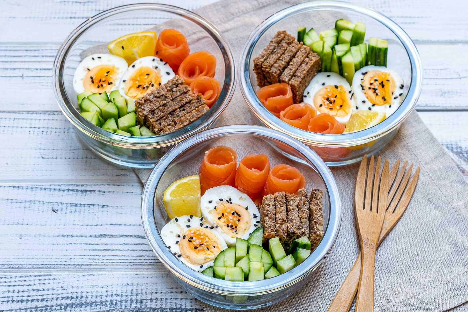 Healthy Smoked Salmon Protein Packed Bento Boxes