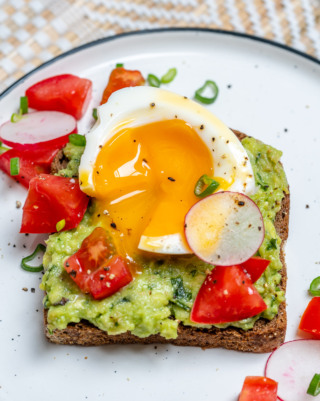 Healthy Soft Boiled Egg Avocado Toast
