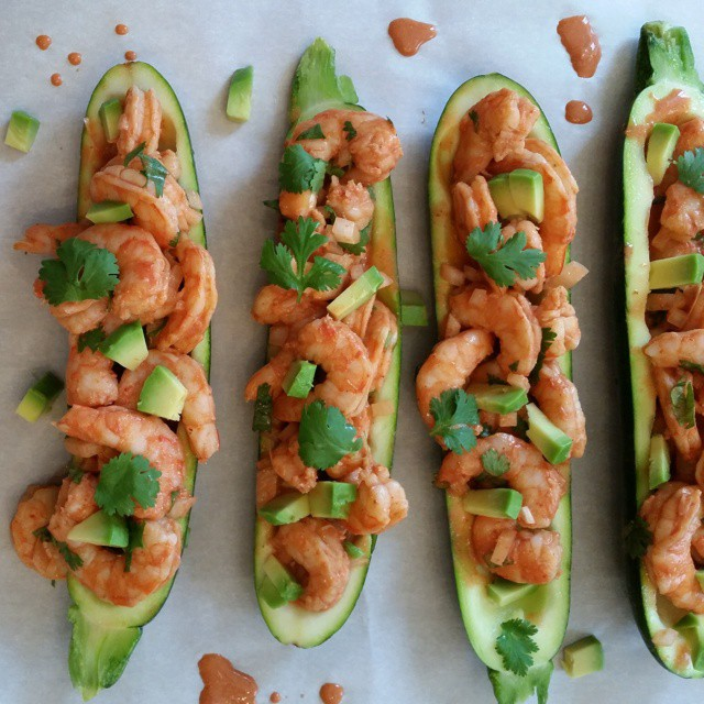 Creamy Shrimp Enchilada Zucchini