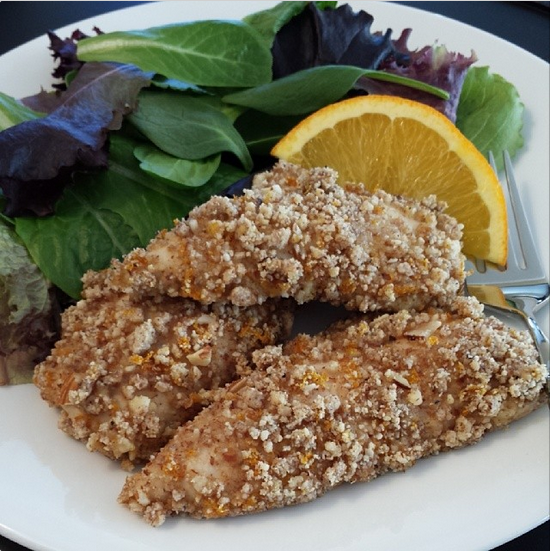 Orange-Almond Chicken Tenders
