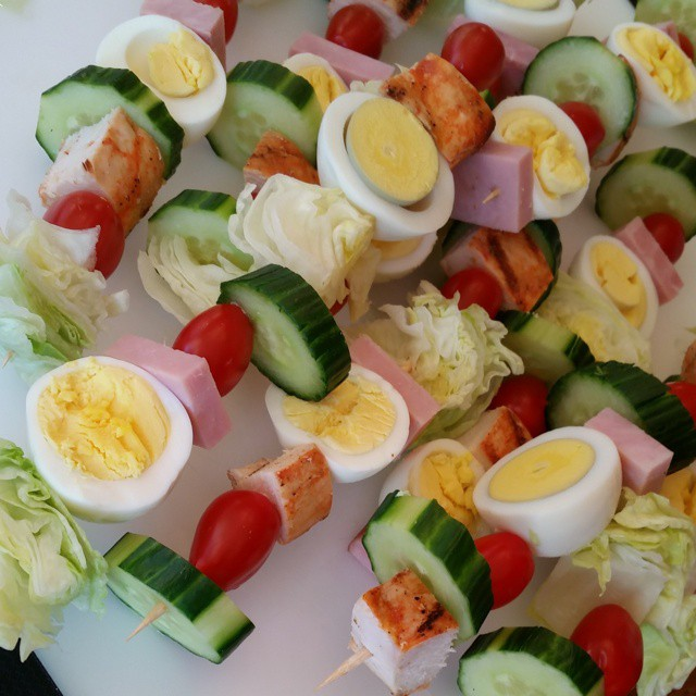 Cobb Salad On-a-Stick
