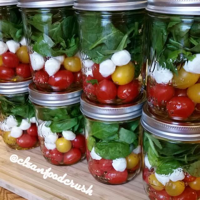 Grab & GO Caprese Salad IN-A-JAR | Clean Food Crush
