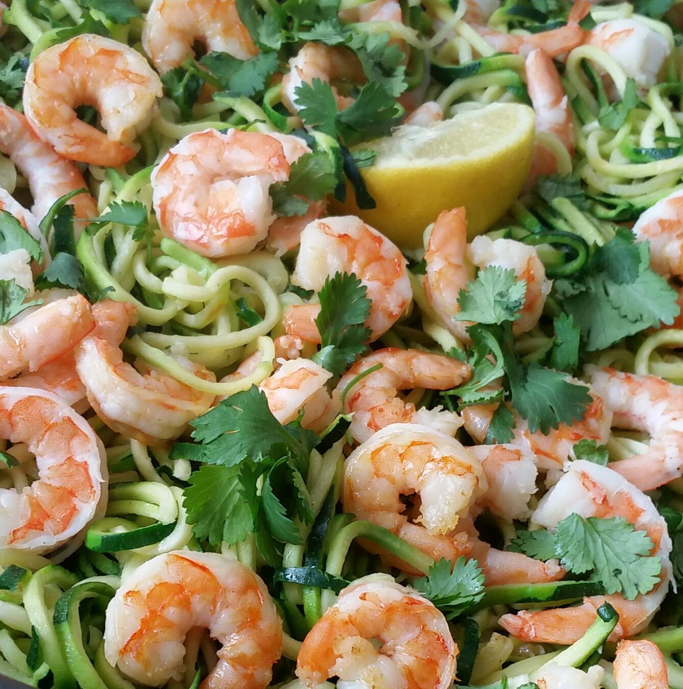 Creative Clean Dinners Shrimp Zoodles with Cilantro and Garlic https://cleanfoodcrush.com/shrimp-zoodles