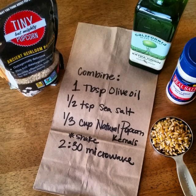 Make It Yourself Popcorn Bags Diy Microwave W Light Sea Salt