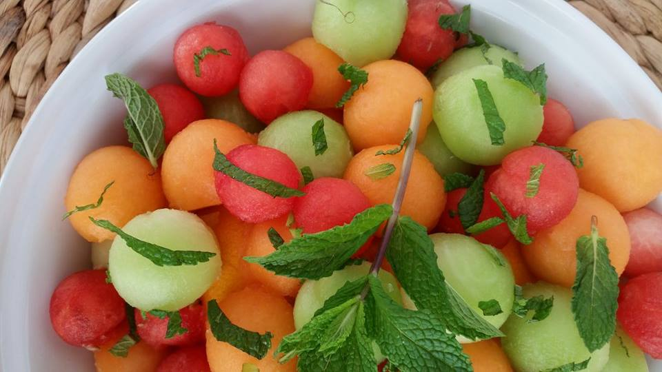 10 minute Spring Mojito Fruit Salad