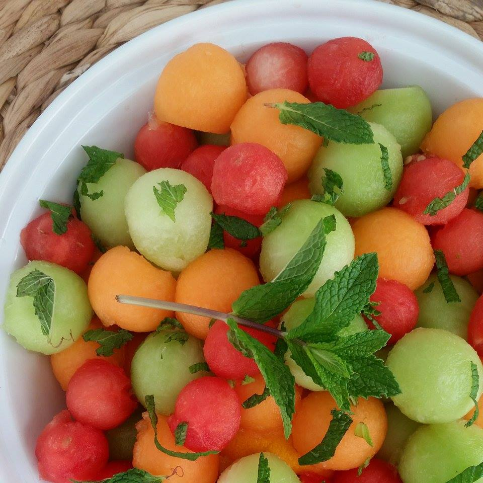 Spring Mojito Fruit Salad https://cleanfoodcrush.com/mojito-fruit-salad